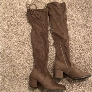 Brown Suede Over-the Knee Boots *New*